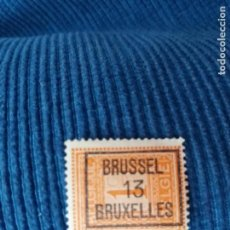 Sellos: SELLO BÉLGICA CON MATASELLOS BRUSELAS 13 BRUSSEL BRUXELLES. Lote 119726283