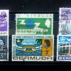 Sellos: COL.INGLESAS-6 SELLOS DE BERMUDAS, USADOS. Lote 120552903