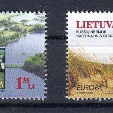 Sellos: LITUANIA 1999 EUROPA 1999 RESERVAS NATURALES Y PARQUES. Lote 121381587