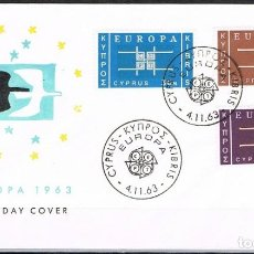 Sellos: [CF7236A] CHIPRE 1963, FDC EUROPA (NS). Lote 128189831