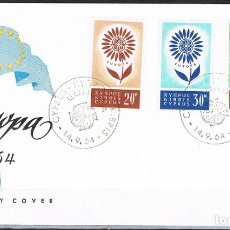Sellos: [CF7691A] CHIPRE 1964, FDC EUROPA (NS). Lote 128193551