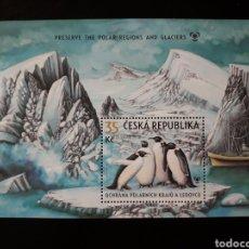 Sellos: CHEQUIA. REPÚBLICA CHECA. YVERT ? AÑO 2009. SERIE COMPLETA NUEVA SIN CHARNELA. FAUNA AVES PINGÜINOS. Lote 128300240