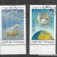 Sellos: VATICANO EUROPA CEPT 2001 AGUA WATER. Lote 129255619