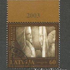Sellos: LATVIJA LETONIA EUROPA CEPT 2003 ARTE ART. Lote 129258071