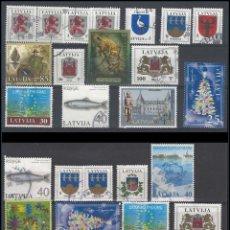 Sellos: EUROPA: LETONIA / LATVIJA - BONITO LOTE SELLOS USADOS - VER IMAGEN - VALORES INTERESANTES. Lote 133827362