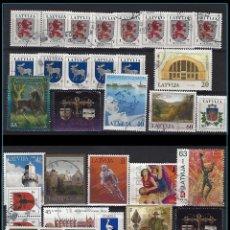 Sellos: EUROPA: LETONIA / LATVIJA - BONITO LOTE SELLOS USADOS - VER IMAGEN - VALORES INTERESANTES. Lote 133827430