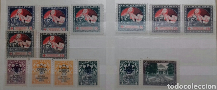 Sellos: Colección de sellos de Letonia (Latvija) En Clasificador - Foto 15 - 134916723