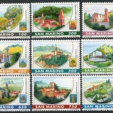 Sellos: SAN MARINO 1997 - MONASTERIOS - YVERT Nº 1499/1507. Lote 135050474