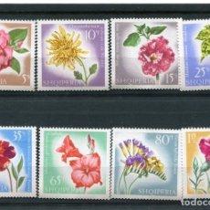 Sellos: ALBANIA 1967 IVERT 967/74 *** FLORA - FLORES DIVERSAS. Lote 135289050
