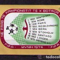Sellos: ALBANIA 1973 HB IVERT 25 *** CAMPEONATO DEL MUNDO DE FUTBOL - MUNICH-74 - DEPORTES. Lote 135290102