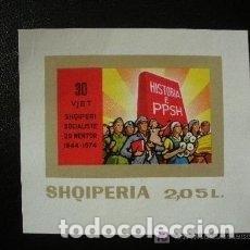 Sellos: ALBANIA 1974 HB IVERT 31 *** 30º ANIVERSARIO DE LA LIBERACIÓN . Lote 135392870