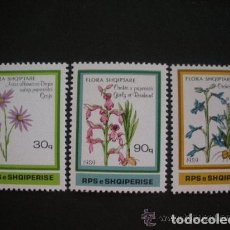 Sellos: ALBANIA 1989 IVERT 2187/9 *** FLORA INDIGENA. Lote 135393582