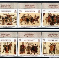 Sellos: ALDERNEY - ARTE Y PATRIMONIO / TAPIZ DE BAYEUX (2014) **. Lote 136806114