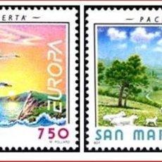 Sellos: SAN MARINO 1995 IVERT 1396/7 *** EUROPA - PAZ Y LIBERTAD. Lote 138795238