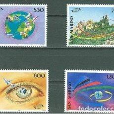 Sellos: SAN MARINO 1995 IVERT 1404/7 *** 20º ANIVERSARIO DE LA O.M.T. - ORGANIZACIÓN MUNDIAL DE TURISMO. Lote 138796118