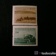 Sellos: CHECOSLOVAQUIA 1953 IVERT 710/1 *** EN FAVOR DE LA AGRICULTURA. Lote 139868446