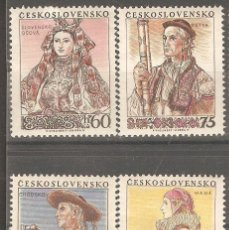 Sellos: CHECOSLOVAQUIA 1955 IVERT 816/19 * COSTUMBRES REGIONALES (I) - FOLKLORE. Lote 140423042