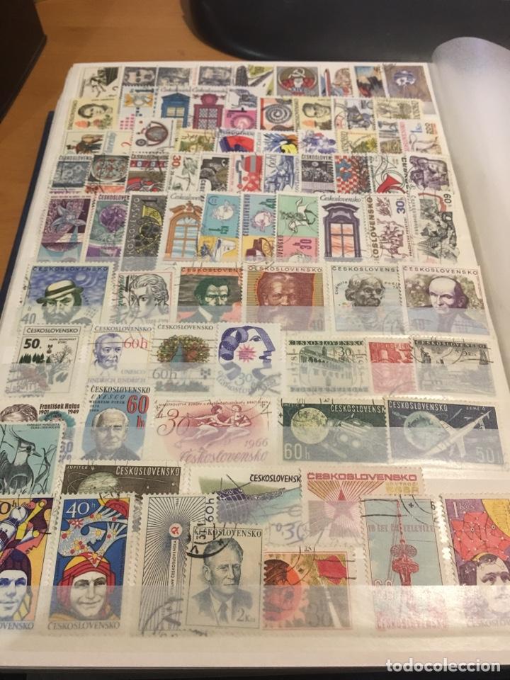 Sellos: Lote de 600 sellos usados Checoslovaquia álbum 3 - Foto 6 - 140587741