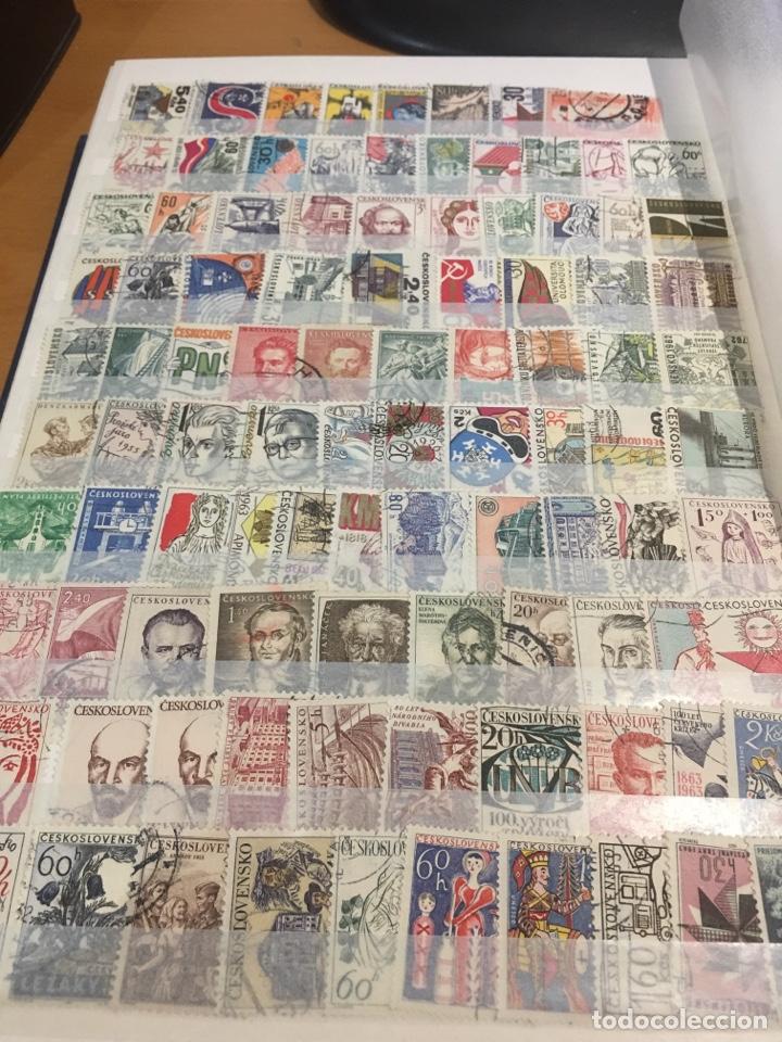 Sellos: Lote de 600 sellos usados Checoslovaquia álbum 3 - Foto 8 - 140587741