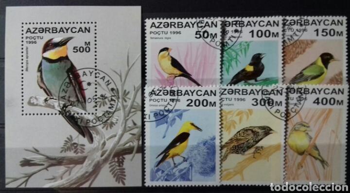SELLOS DE AZERBAIYÁN, PÁJAROS 1996 (Sellos - Extranjero - Europa - Otros paises)