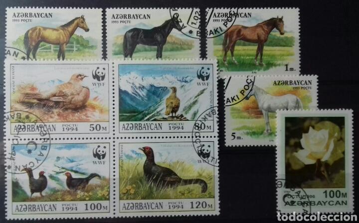 SELLOS DE AZERBAIYÁN, CABALLOS 1993, WWF 1994 Y ROSA 1996 (Sellos - Extranjero - Europa - Otros paises)