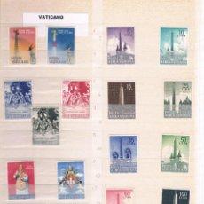Sellos: LOTE DE 134 SERIES COMPLETAS DE VATICANO 1959 AL 1986 CON TASAS Y HOJAS BLOQUE. Lote 145891190