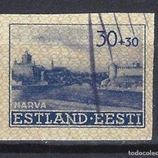 Sellos: ESTONIA, OCUPACION ALEMANA - SELLO USADO SIN DENTAR. Lote 146008558