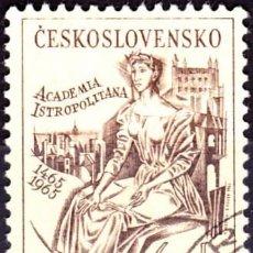 Sellos: 1965 - CHECOSLOVAQUIA - V CENTENARIO ACADEMIA ISTROPOLITANA - BRATISLAVA - YVERT 1429. Lote 146432666