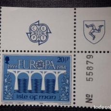 Sellos: SELLOS ISLA DE MAN - EUROPA - CEPT - NUEVO - AÑO 1984 CON MATRIZ. Lote 146812294