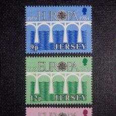 Sellos: LOTE 3 SELLOS JERSEY - EUROPA - CEPT - NUEVO - AÑO 1984 - 3 VALORES . Lote 146812422