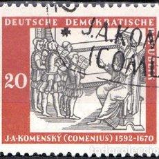 Sellos: 1958 - ALEMANIA - DDR - JAN AMOS KOMENSKY - YVERT 364. Lote 147572078