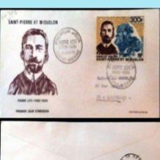 Sellos: SAINT-PIERRE ET MIQUELON-1969 CARTA CIRCULADA PRIMER DIA DE EMISION DE PIERRE LOTI A SARCELLES.REV.. Lote 149545442