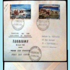Sellos: SAINT-PIERRE ET MIQUELON-1969 CARTA CIRCULADA PRIMER DIA DE EMISION DE TURISMO A SARCELLES.REVERSO. Lote 149545494