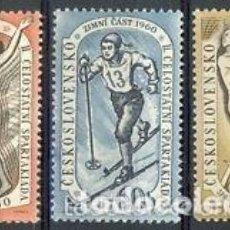 Sellos: CHECOSLOVAQUIA 1960 IVERT 1059/61 *** 2ª SPARTAKIADAS NACIONALES (I) - DEPORTES. Lote 150354134
