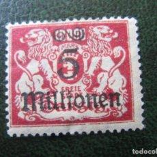 Sellos: DANZIG, 1923 SELLO SOBRECARGADO YVERT 151. Lote 150534030