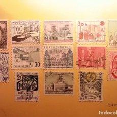 Sellos: CHECOSLOVAQUIA - LOTE DE 13 SELLOS - TEMAS VARIOS. Lote 151014514