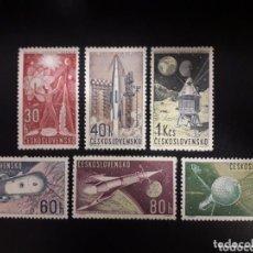 Sellos: CHECOSLOVAQUIA 1962 IVERT 1208/13 *** EXPLORACIÓN DEL UNIVERSO (II) - CONQUISTA DEL ESPACIO. Lote 151819550