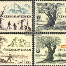 Sellos: CHECOSLOVAQUIA 1964 IVERT 1321/24 *** PROPAGANDA POR EL TURISMO - PAISAJES Y MONUMENTOS. Lote 153225866