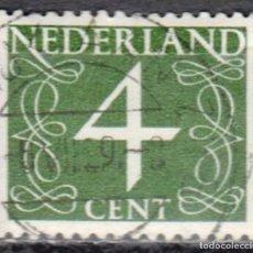 Sellos: HOLANDA - 1 SELLO IVERT #755 - **NUMEROS - AÑO 1962** - USADO. Lote 153512550
