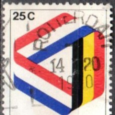 Sellos: HOLANDA - 1 SELLO IVERT #895 -**BENELUX AÑO 1969** - USADO. Lote 153560630
