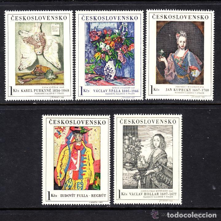 CHECOSLOVAQUIA 1966 IVERT 1530/4 *** ARTE - CUADROS DE GALERÍAS NACIONALES - PINTURA (Sellos - Extranjero - Europa - Otros paises)