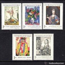 Sellos: CHECOSLOVAQUIA 1966 IVERT 1530/4 *** ARTE - CUADROS DE GALERÍAS NACIONALES - PINTURA. Lote 153657994
