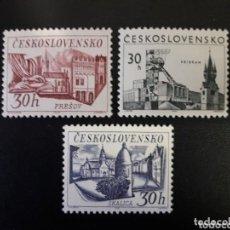 Sellos: CHECOSLOVAQUIA 1967 IVERT 1579/81 *** VISTAS DE CIUDADES - MONUMENTOS. Lote 154676566