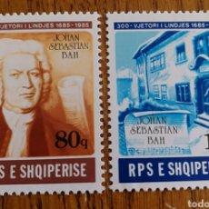 Sellos: ALBANIA : MÚSICA, COMPOSITORES, BACH, MNH. Lote 154790508