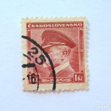 Sellos: SELLO POSTAL CHECOSLOVAQUIA 1939, 1 K ,PRESIDENTE TOMAS GARRIGUE MASARYK , USADO. Lote 154993598