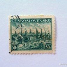 Sellos: SELLO POSTAL CHECOSLOVAQUIA 1938, 50 H , PLZEŇ , USADO. Lote 155029962