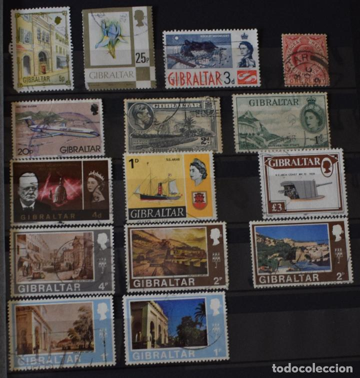 LOTE 15 SELLOS DIFERENTES DE GIBRALTAR (Sellos - Extranjero - Europa - Otros paises)