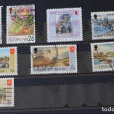 Sellos: LOTE 8 SELLOS DIFERENTES DE ISLA DE MAN. Lote 156010342