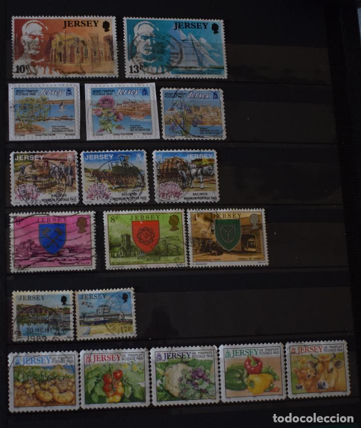 Sellos: lote 46 sellos diferentes de Jersey - Foto 2 - 156010378