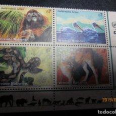 Sellos: ONU VIENA 1999 4 VALORES NUEVO. Lote 156676382